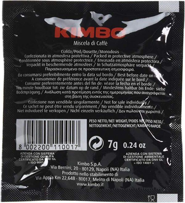 Caffè in cialde Kimbo universali da 7gr