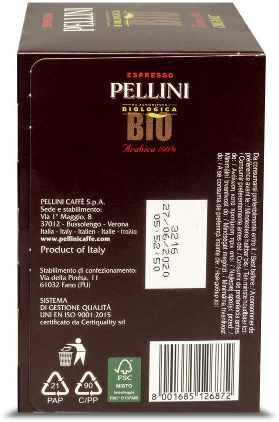 caffè Pellini bio arabica 60 capsule compatibili nespresso