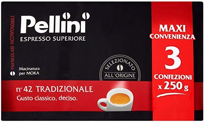 Caffè Pellini No. 42, macinato Moka, Gusto Tradizionale, 750 gr