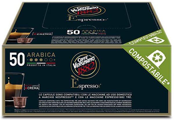 Confezione Caffè espresso Vergnano 1882 Arabica 50 Capsule