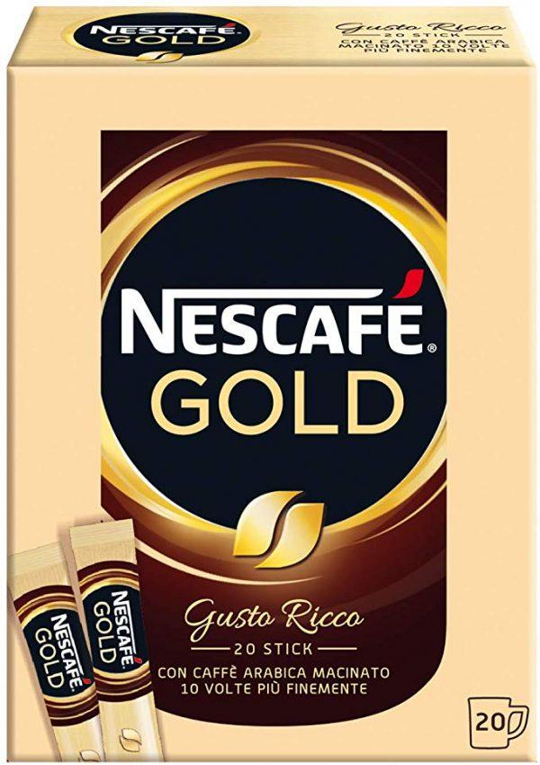 confezione 20 bustine caffè solubile Nescafè Gold 34 gr
