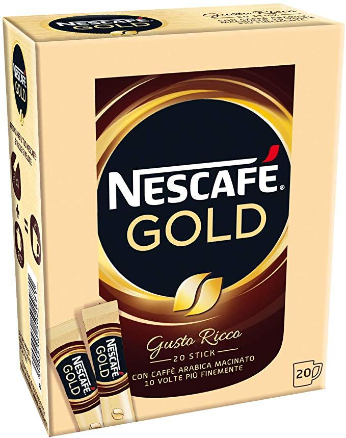 20 bustine caffè solubile Nescafé Gold