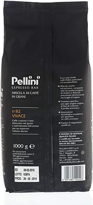 Caffè in grani Pellini n82 vivace confezione 1kg Espresso Bar