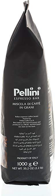 Caffè in grani Pellini n82 vivace confezione 1kg lato
