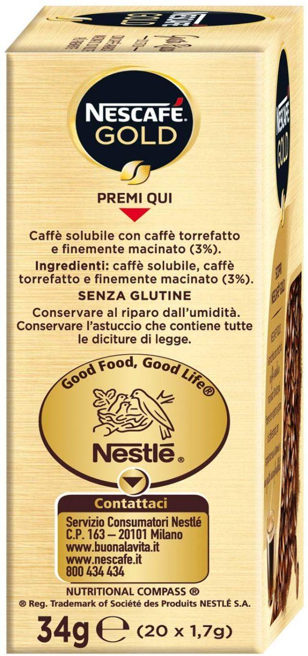 confezione 20 bustine caffè solubile Nescafé Gold