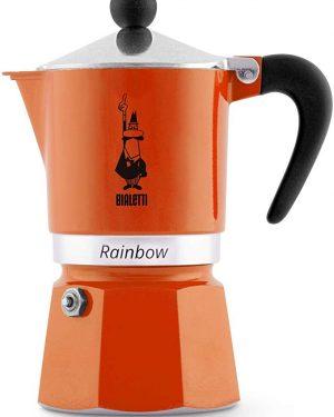 Moka Bialetti Rainbow Alluminio arancione
