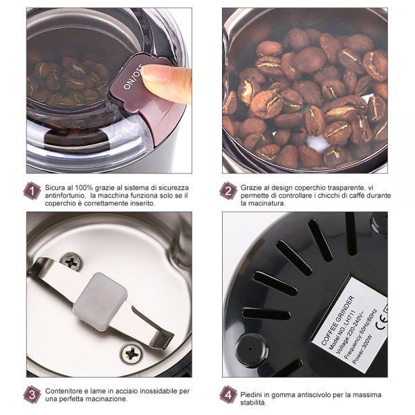 kyg macinacaffe elettrico istruzioni