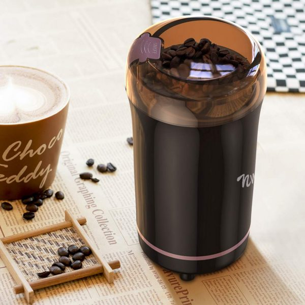 nwouiiay macinacaffe elettrico nero