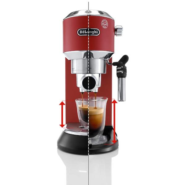 delonghi dedica macchina caffe manuale rosso