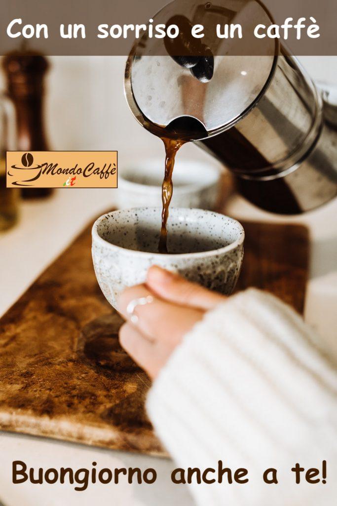 buongiorno con sorriso e caffè